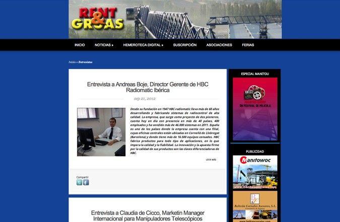 Segunda página interior web rent & gruas