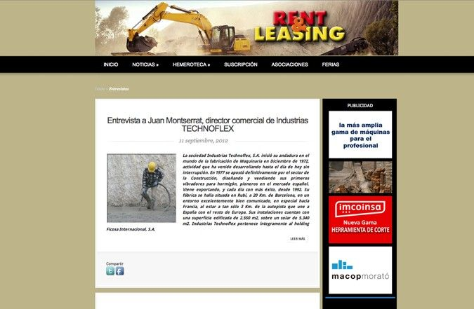 Página interior web rent & leasing