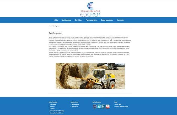 Página interior web edicrea