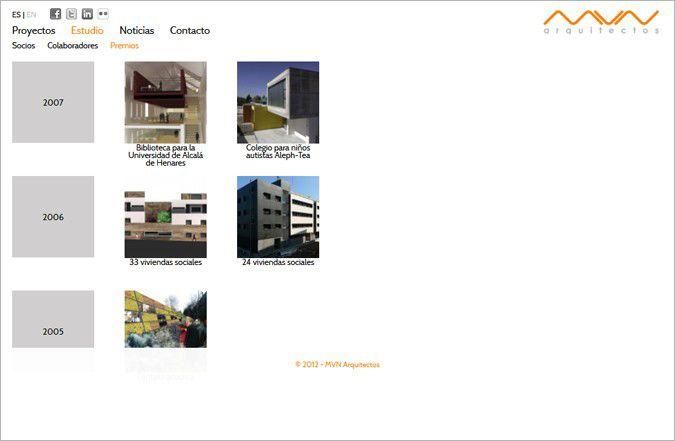Segunda página interior web MVN