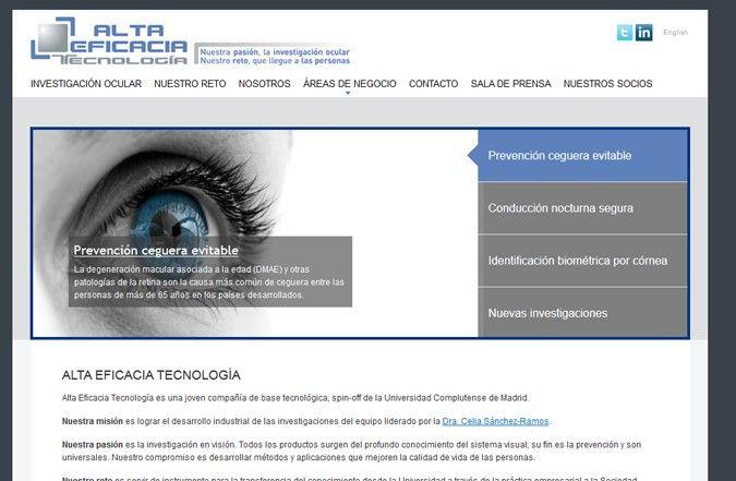 Tercera página interior web alta eficacia