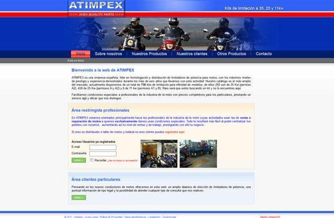 Segunda página interior web atimpex