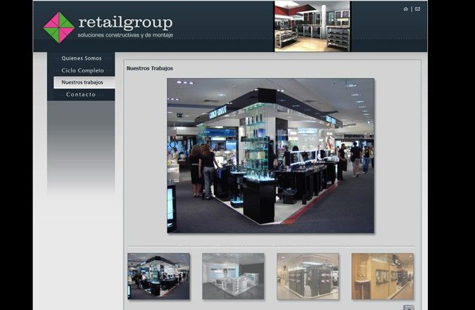 Tercera página interior web Retail group