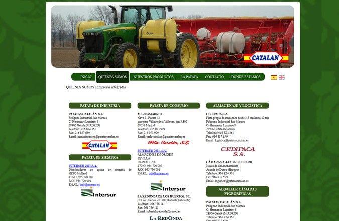 Tercera página interior web Patatas Catalán