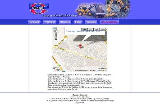 Segunda página interior web Osacu