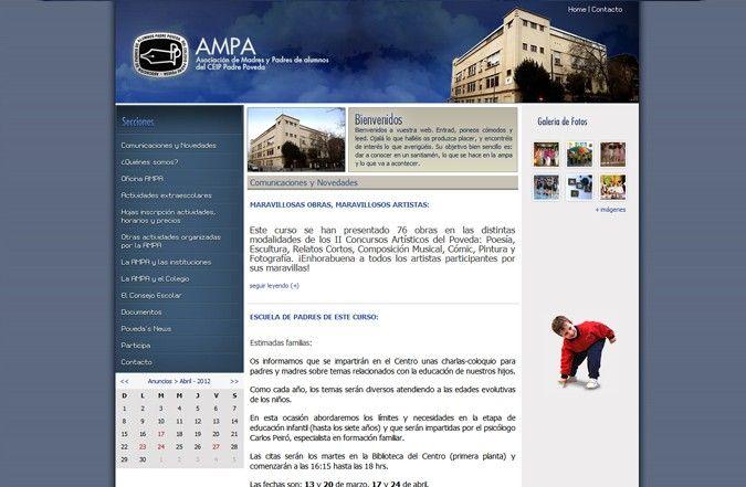 Segunda página interior web Ampa