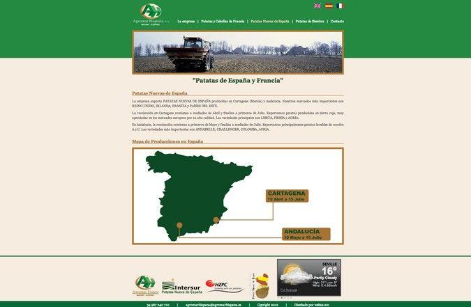 Tercera página interior web Agromar