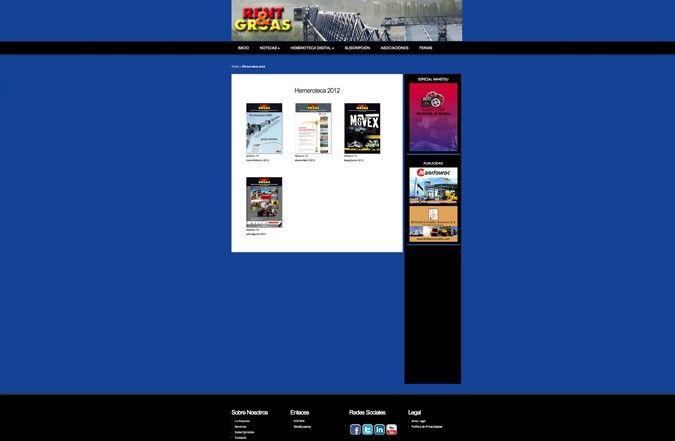 Página interior web rent & gruas