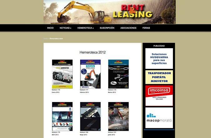 Segunda página interior web rent & leasing