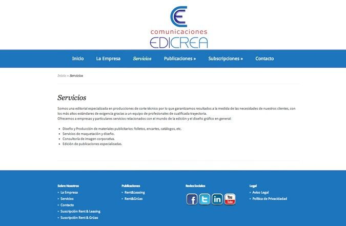 Segunda página interior web edicrea