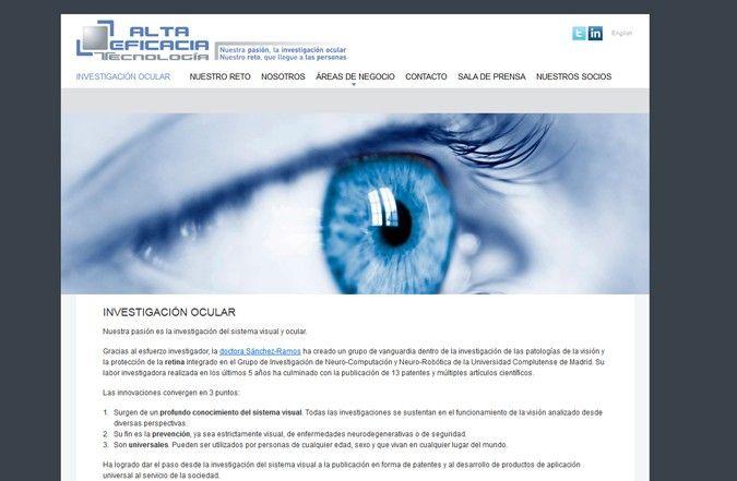 Cuarta página interior web alta eficacia