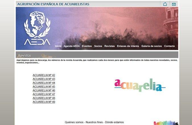 Página interior web AEDA