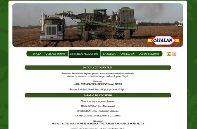 Cuarta página interior web Patatas Catalán