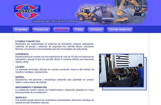 Tercera página interior web Osacu