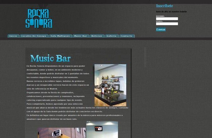 Primera página interior web Rocka Sonora