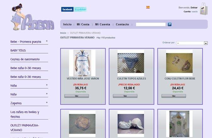 Tercera página interior tienda online Anena