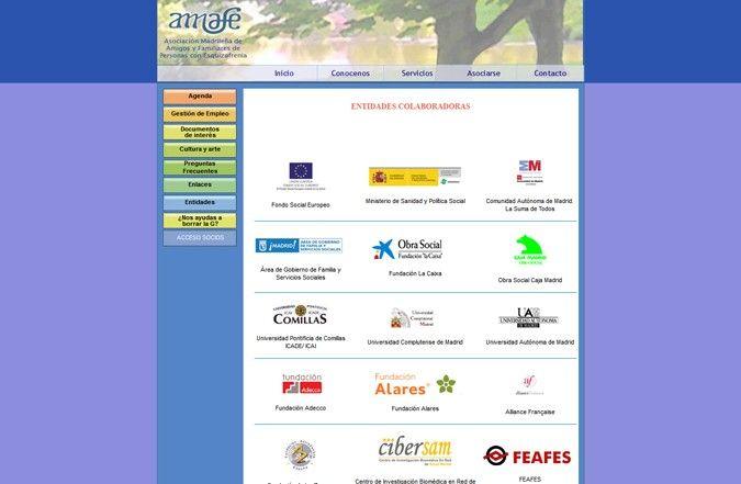 Segunda página interior web Amafe