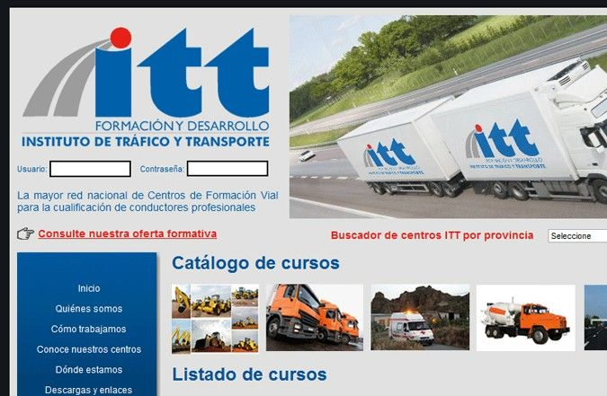 Página interior web itt