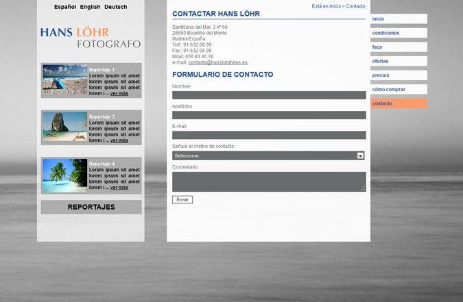 Primera página interior web Hans Löhr