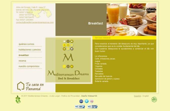 Segunda página interior web Mediterranean Dreams