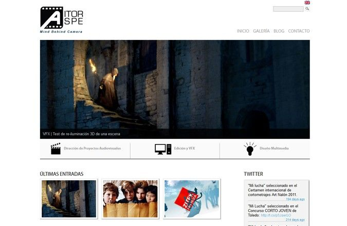 Página inicio web Aitor Aspe