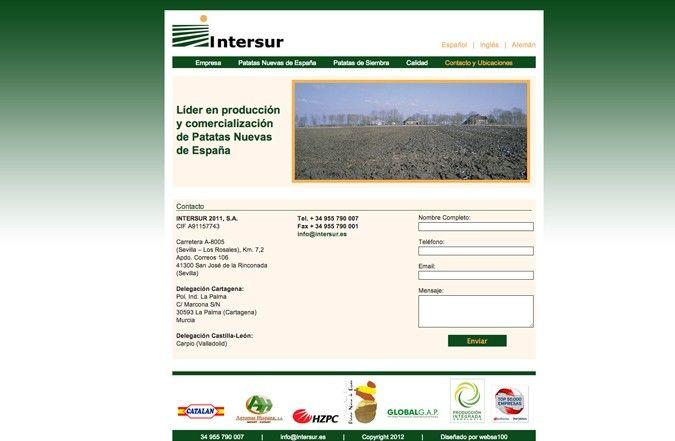Segunda página interior web Intersur
