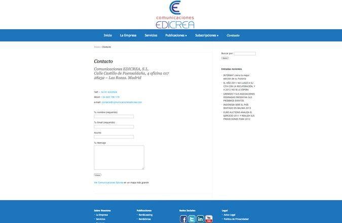 Tercera página interior web edicrea
