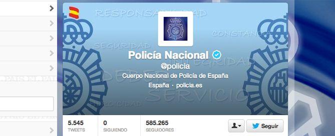 la policía en Twitter