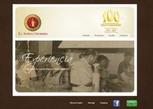 Página interior web La Antigua Churrería