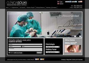 Página interior web Clinica Souki