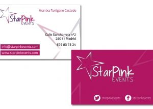 Logo y tarjetas corporativas Star pink events
