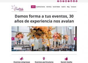 Inicio web Star Pink Events