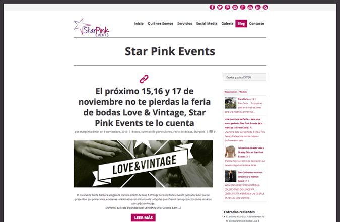 Blog de Star Pink Events