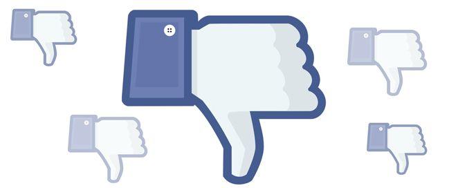 dislike red social facebook
