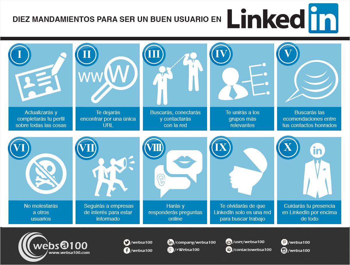 10 mandamientos del usuario de Linkedin