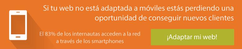 Ver servicio adaptación web para móviles