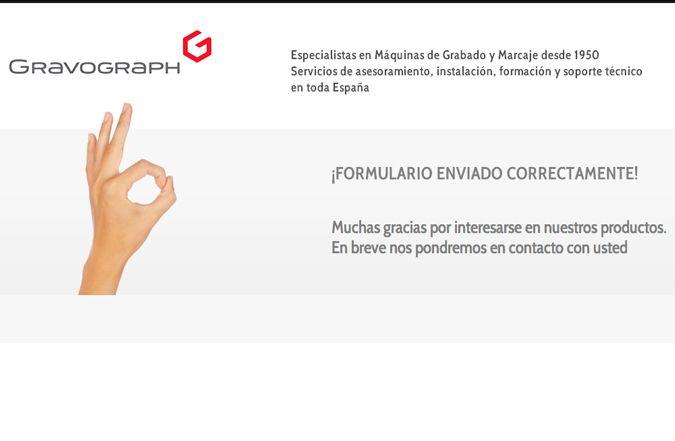 Página de confirmación web
