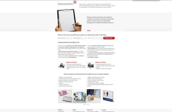 Landing page Gravograph