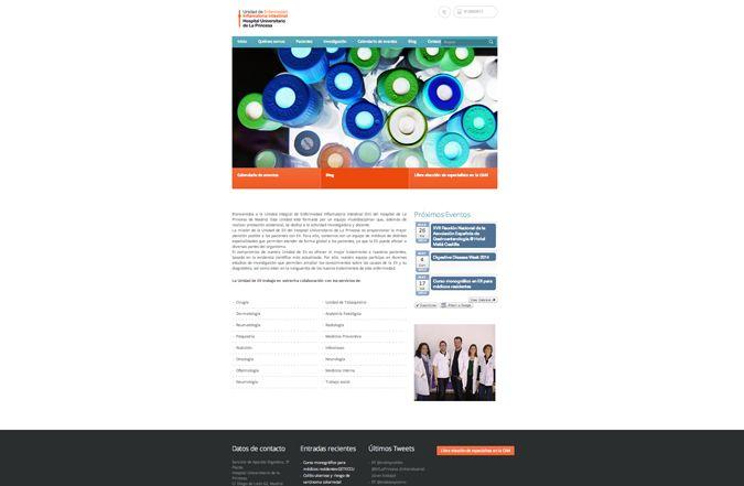 Páginas inicio web somos Hospital La Princesa