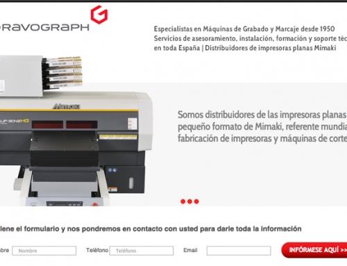 Landing máquinas de impresión Mimaki Gravograph