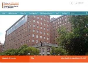 Página de inicio web para El Hospital La Princesa