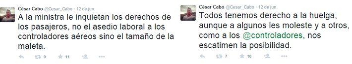Captura tuiteros César Cabo