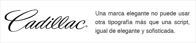 Tipografía logo Cadillac