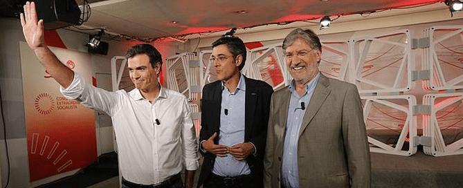 redes sociales y política: candidatos del PSOE