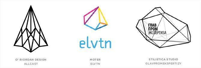 Tendencia en diseño de logotipos: Formas geométricas