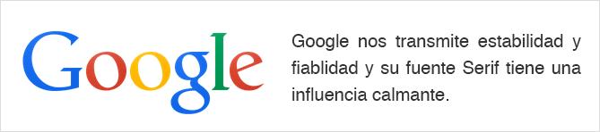 Tipografía logo Google