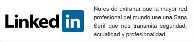 Tipografía logo Linkedin