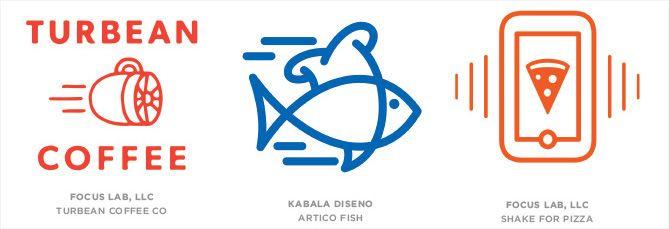 Tendencia en diseño de logotipos: Líneas en movimiento