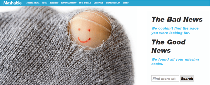 Páginas de error 404 con humor