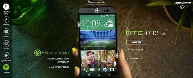 Página de producto HTC One (M8)